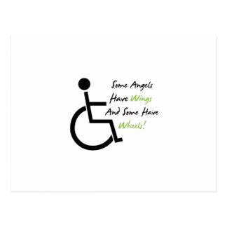 Cartão Postal Apoio do amor da cadeira de rodas do presente da
