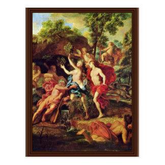 Cartão Postal Apollo e Daphne pelo gabinete Jean-Baptiste Van (o