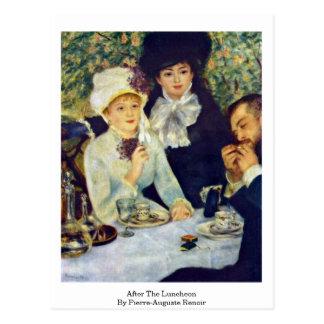 Cartão Postal Após o almoço por Pierre-Auguste Renoir