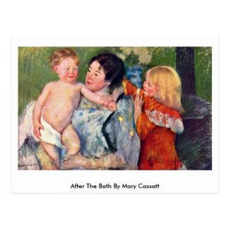 Cartão Postal Após o banho por Mary Cassatt