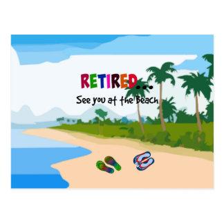 Cartão Postal Aposentado… veja-o na praia