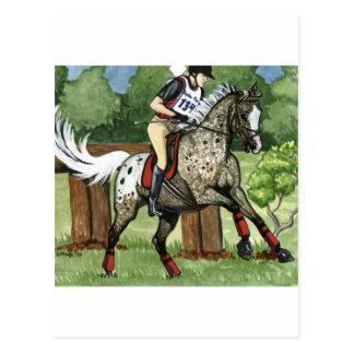 Cartão Postal APPALOOSA Eventing da arte do cavalo