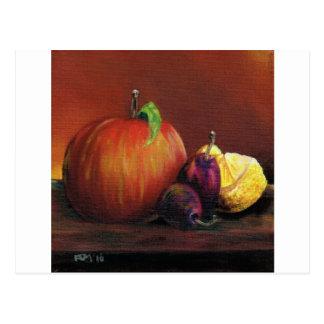 Cartão Postal Apple, ameixa e limão