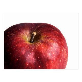 Cartão Postal Apple vermelho no branco