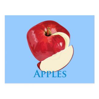 Cartão Postal Apple vermelho torrado