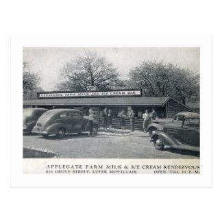 Cartão Postal Applegate cultiva o sorvete, vintage de Montclair