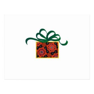 Cartão Postal Applique da caixa de presente