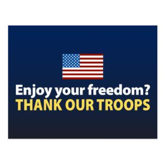 Cartão Postal Aprecie sua liberdade? Agradeça a nossas tropas