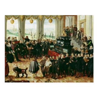 Cartão Postal Apresentação ao duque Phillip II