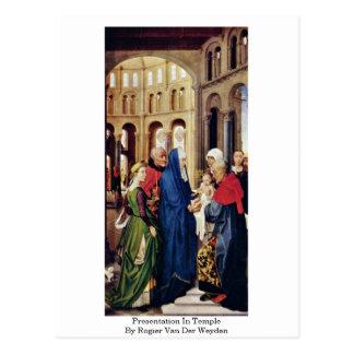 Cartão Postal Apresentação no templo por Rogier van der Weyden