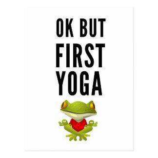 Cartão Postal Aprovação mas primeira ioga