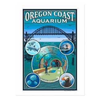 Cartão Postal Aquário da costa de Oregon