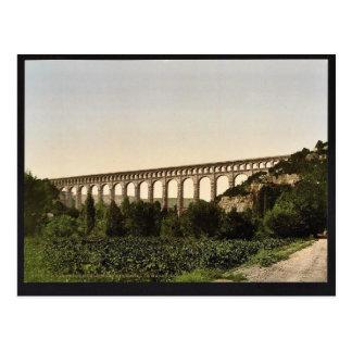 Cartão Postal Aqueduto de Roquefavour, canal de Marselha,