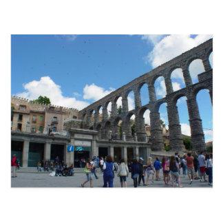Cartão Postal Aqueduto, Segovia, espanha