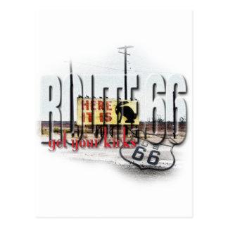 Cartão Postal Aqui é - Rt 66 - a junção do coelho de Jack, AZ