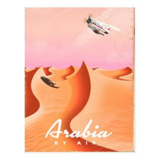 Cartão Postal Arábia pelo poster de viagens do ar