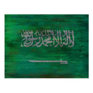 Cartão Postal Arábia Saudita afligiu a bandeira saudita