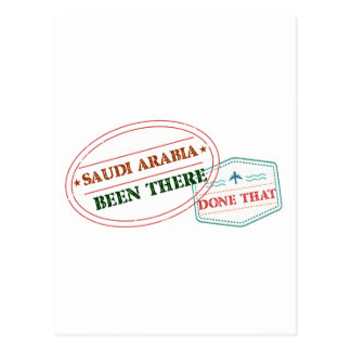 Cartão Postal Arábia Saudita feito lá isso