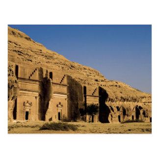 Cartão Postal Arábia Saudita, local de Madain Saleh, 2 antigos