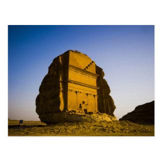 Cartão Postal Arábia Saudita, local de Madain Saleh, 4 antigos
