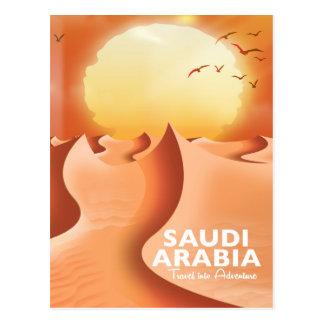 Cartão Postal Arábia Saudita pelo poster de viagens do ar