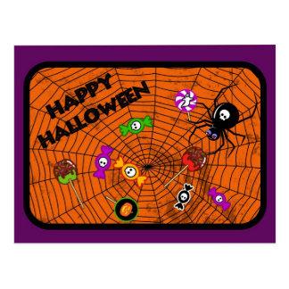 Cartão Postal Aranha com doces