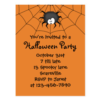 Cartão Postal Aranha do partido do Dia das Bruxas