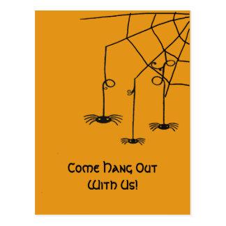 Cartão Postal Aranhas assustadores