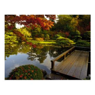 Cartão Postal Arboreto, jardim japonês, Seattle, Washington,