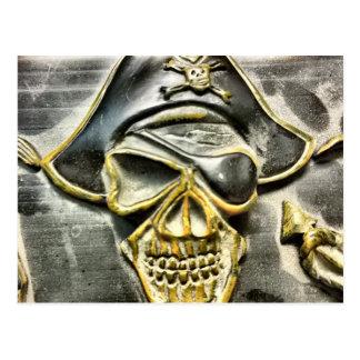 Cartão Postal Arca do tesouro alegre do pirata de Roger