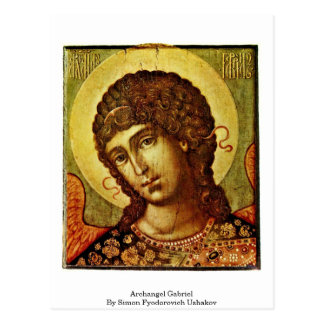 Cartão Postal Arcanjo Gabriel por Simon Fyodorovich Ushakov