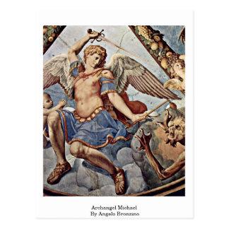 Cartão Postal Arcanjo Michael por Angelo Bronzino