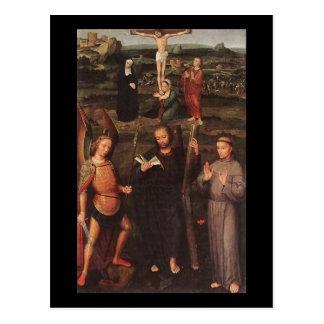 Cartão Postal Arcanjo St Michael St Andrew de Adriaen Isenbrandt