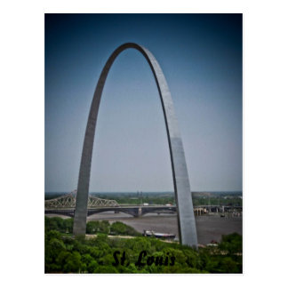 Cartão Postal Arco da entrada de St Louis