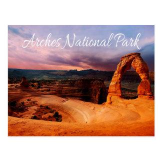 Cartão Postal Arco delicado - arcos parque nacional, Utá - EUA