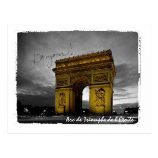 Cartão Postal Arco do Triunfo de Paris l'Étoile France