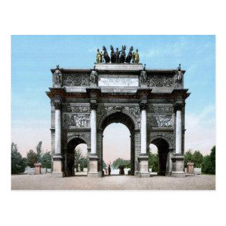Cartão Postal Arco do Triunfo du Carrossel