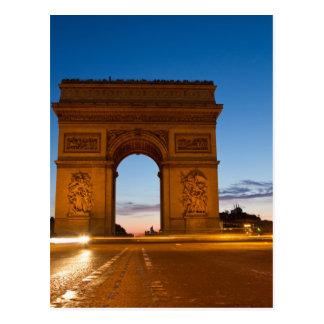 Cartão Postal Arco do Triunfo na noite