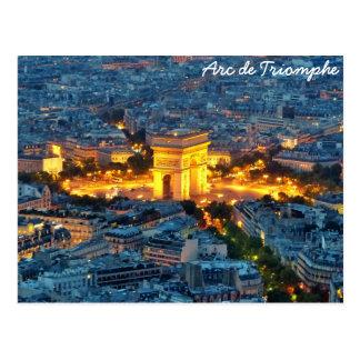 Cartão Postal Arco do Triunfo, Paris, France