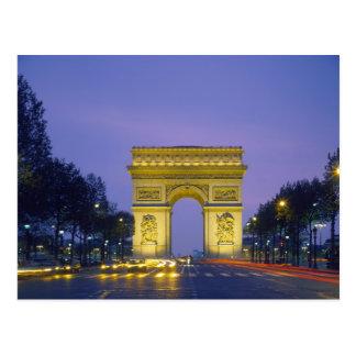 Cartão Postal Arco do Triunfo, Paris, France,