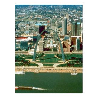 Cartão Postal Arco e skyline de St Louis
