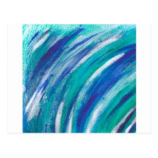 Cartão Postal arco-íris azul