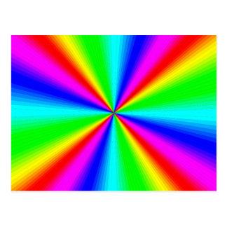 Cartão Postal Arco-íris brilhante colorido