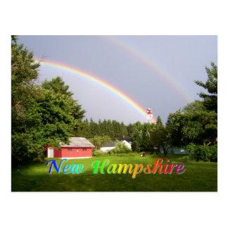 Cartão Postal Arco-íris de New Hampshire