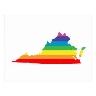 Cartão Postal arco-íris de Virgínia