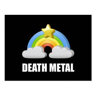 Cartão Postal Arco-íris do metal da morte
