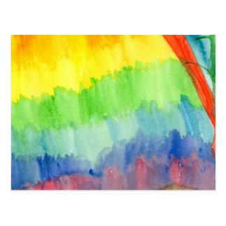 Cartão Postal Arco-íris do sangramento