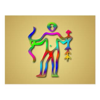 Cartão Postal Arco-íris do sinal da estrela do zodíaco do