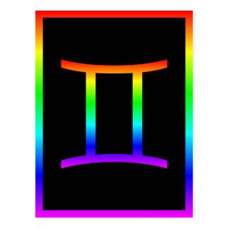 Cartão Postal Arco-íris dos Gêmeos