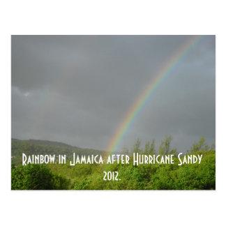Cartão Postal Arco-íris em Jamaica após o furacão Sandy 2012